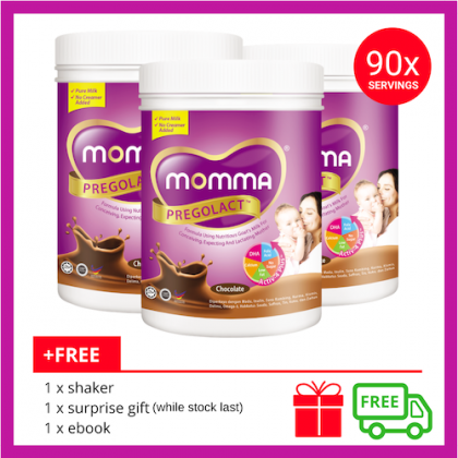 Milk Booster MOMMA® Pregolact® Chocolate - Normal Pack 600g (3 Unit)