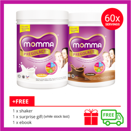 Milk Booster MOMMA® Pregolact® Chocolate & Vanilla Bliss - Normal Pack 600g (2 Unit)