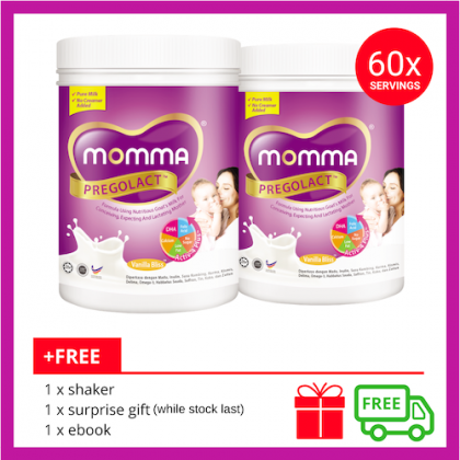 Milk Booster MOMMA® Pregolact® Vanilla Bliss - Normal Pack 600g (2 Unit)