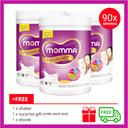 Milk Booster MOMMA® Pregolact® Vanilla Bliss - Normal Pack 600g (3 Unit)