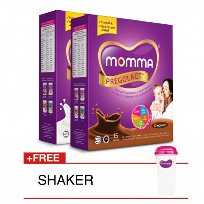 Milk Booster MOMMA® Pregolact® Chocolate & Vanilla Bliss - Travel Pack 300g (2 Unit)